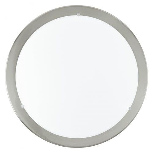 Eglo 31254 LED Planet Ceiling Light Satin Nickel White Clear Shade
